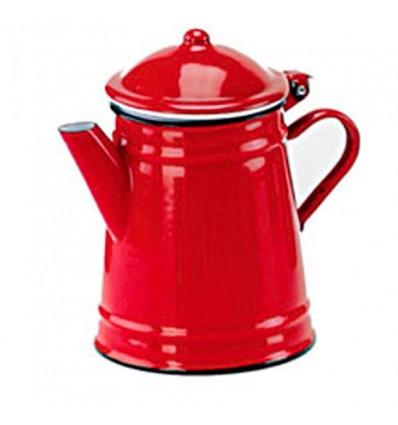 Cafetera Cónica Porcelana Roja 1 Litro Ibili